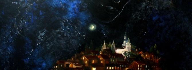Ночь, растворяясь в небосводе