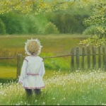 На картину Детство художника Ксении Белозеровой
