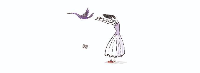 А любовь - непокорная птица...