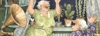 На старушек слегка за семьдесят...