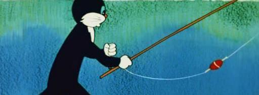 Кот Василий на рыбалке
