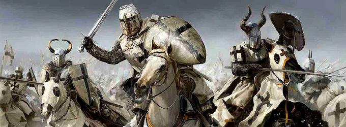 Рыцарский стяг - рыцари
