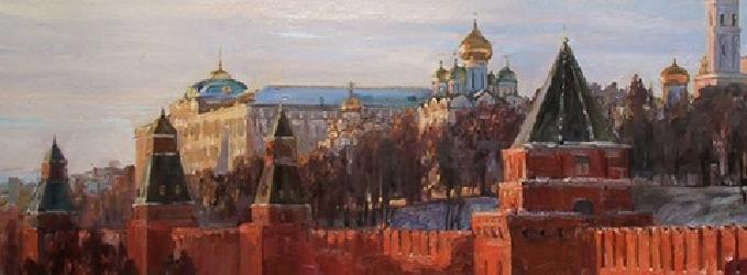 У стен Кремля...