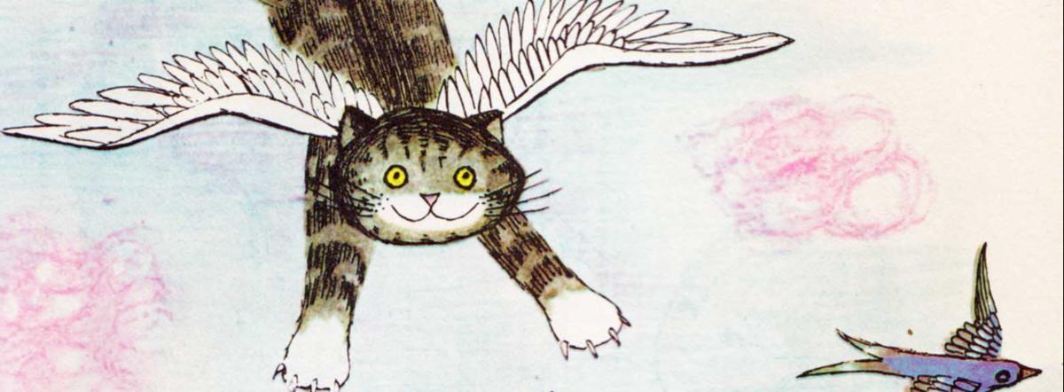 Интересно, а кошки летают во сне?..