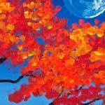 Смолёной луны окурок...
