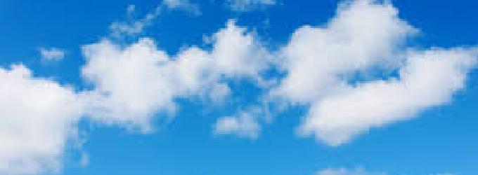 и в небе облака
