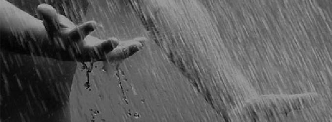 дождь над морем