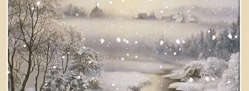 И посыпался снежок...