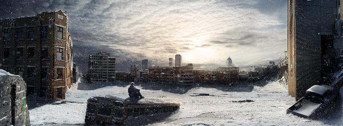 Снега - снег, город