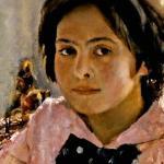 "Картина В. Серова ""Девочка с персиками"""