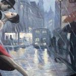 Под проливным дождем