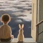Мальчик и зайчик