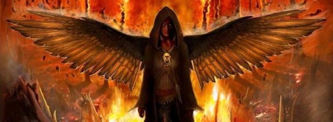 Облизывание, как метод экзорцизма - демон, падшая, лес, магия, битва