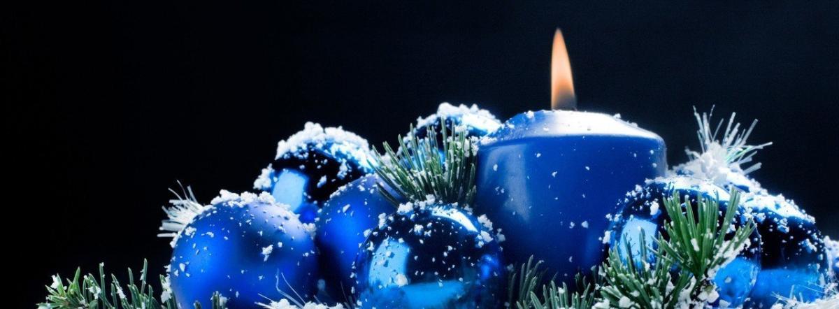 Синяя свечка