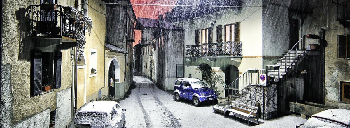 в белом - белом снегу