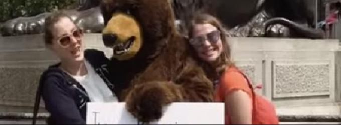 Гулял по Лондону медведь