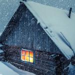 Снег ложится на землю