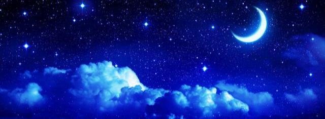 В пространстве ночи звёзды точно