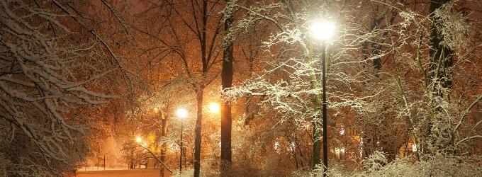Зимние фонари