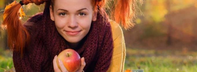 Ах осень рыжая девчонка-хулиганка