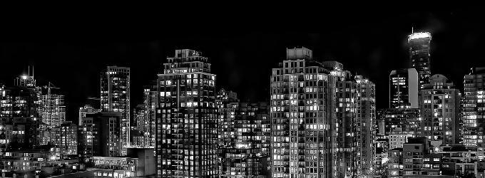 Спектрограммой ночных мегаполисов