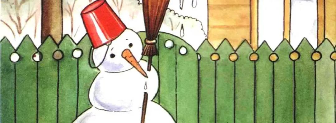 Снеговик весной