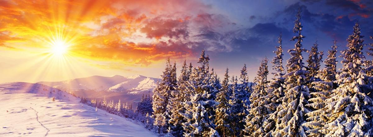 Морозное солнечное утро.