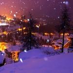 Когда снега окутывают город